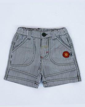 Pantalone rigato corto