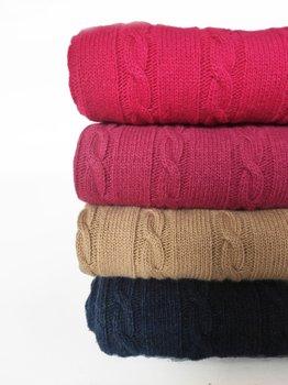 Coperta lana cashmere e viscosa